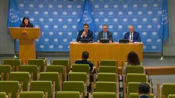 Nils Melzer, Rapporteur spécial de l'ONU sur la torture, s'adresse à un auditoire presque vide.jpg