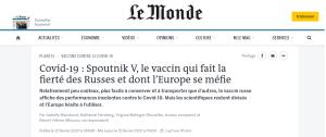 En rejetant le vaccin russe, l'UE fait primer la géopolitique sur la santé publique